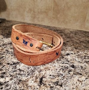 "Vintage leather butterfly belt 30"" - 36"""